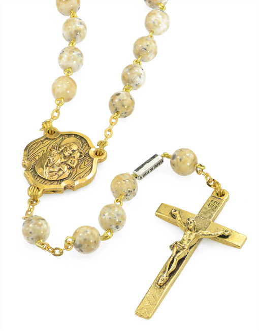 St joseph gold plated rosary