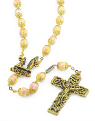 Lourdes Gold Rosary Beads